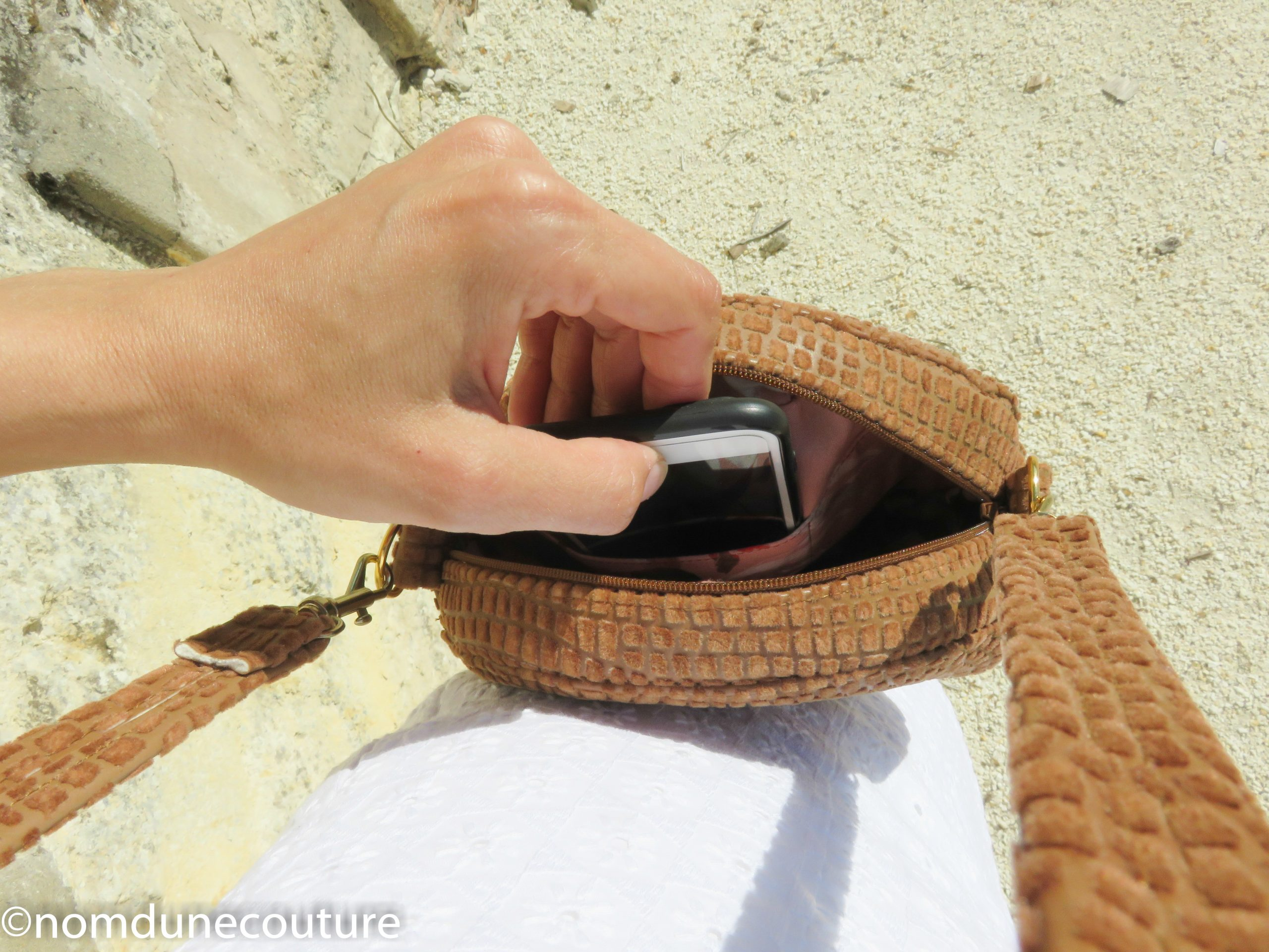 poche à portable sac sun nom d'une couture