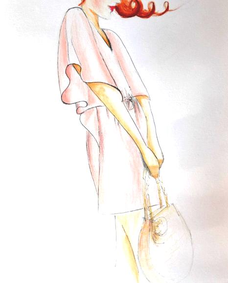 Croquis du patron de la robe Hélios