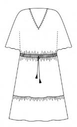Robe Hélios, version avec 1 volant