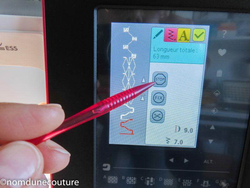 brilliance 75q programmation avec touche stop fix et coupe fil