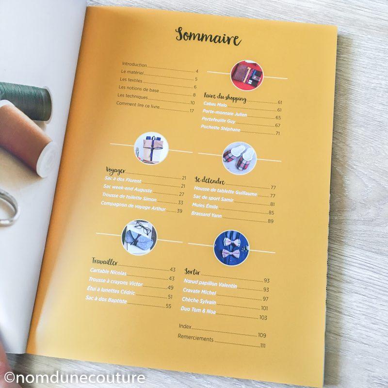 sommaire du livre sacs pochettes et accessoires pour hommes