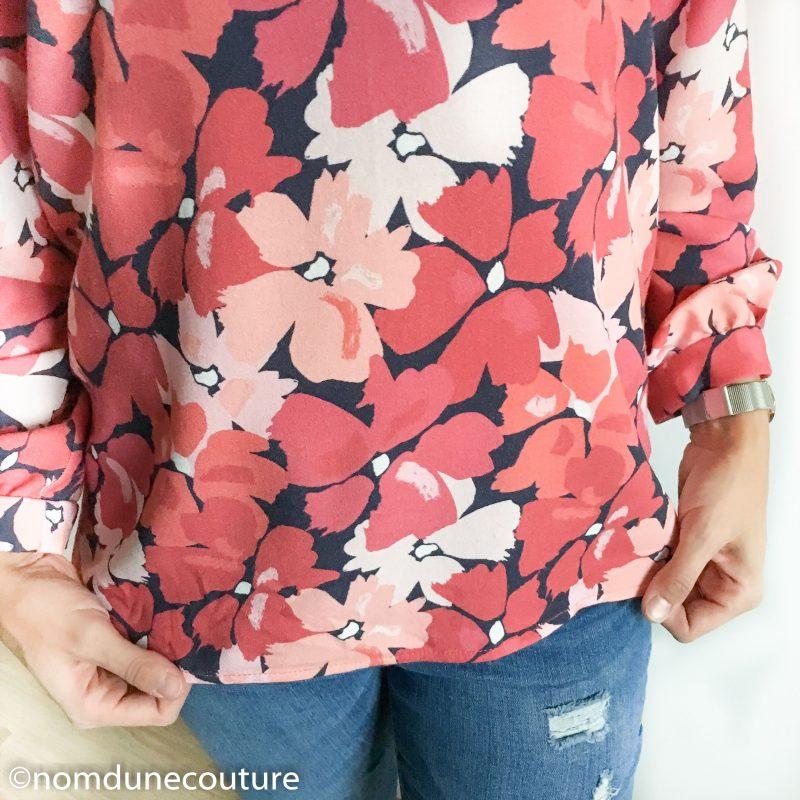 détail de la blouse ms 10 19 mouna sew box couture