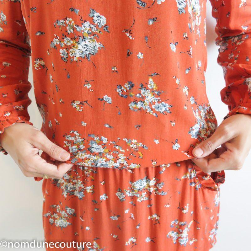 robe divine blousante et taille basse