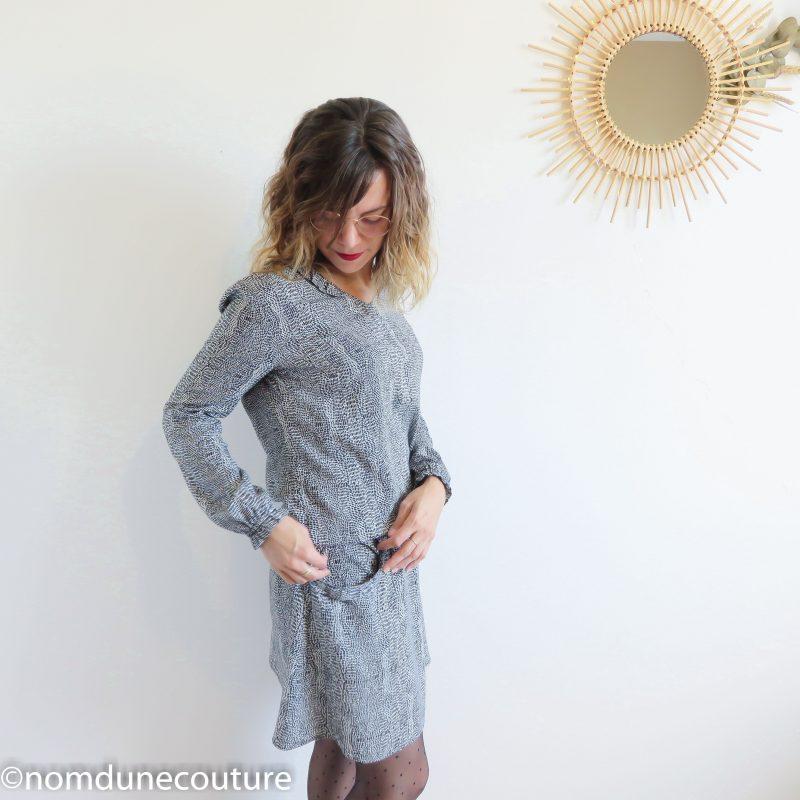 robe divine poche à volant rabattu