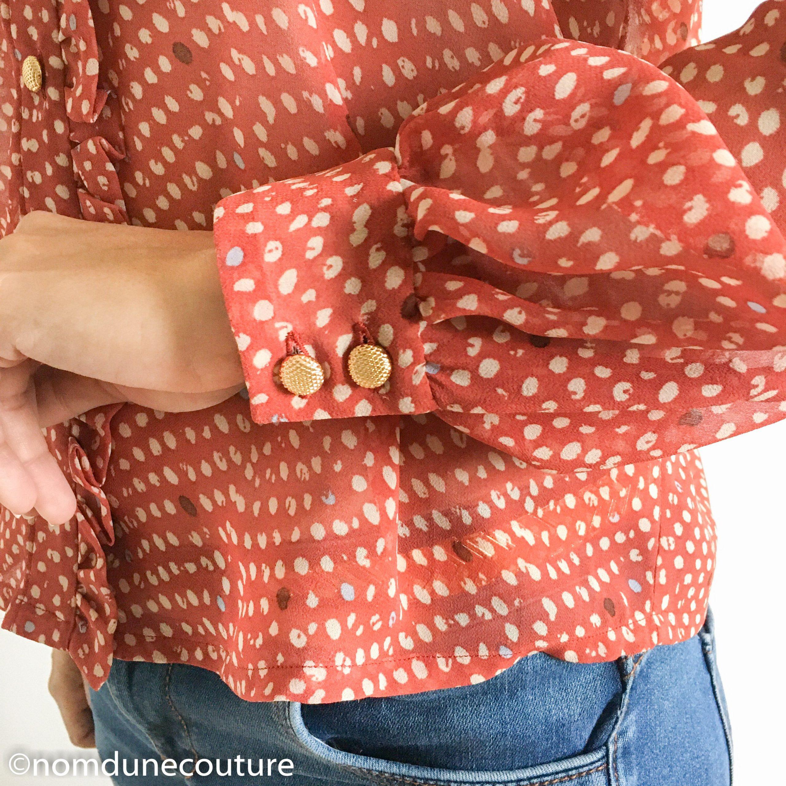 détail bouton blouse wendy sophie denys
