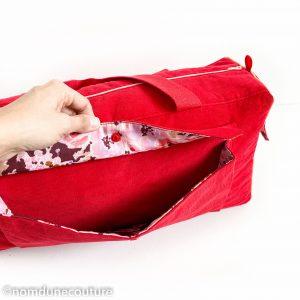 détail de la poche à soufflet sac simone