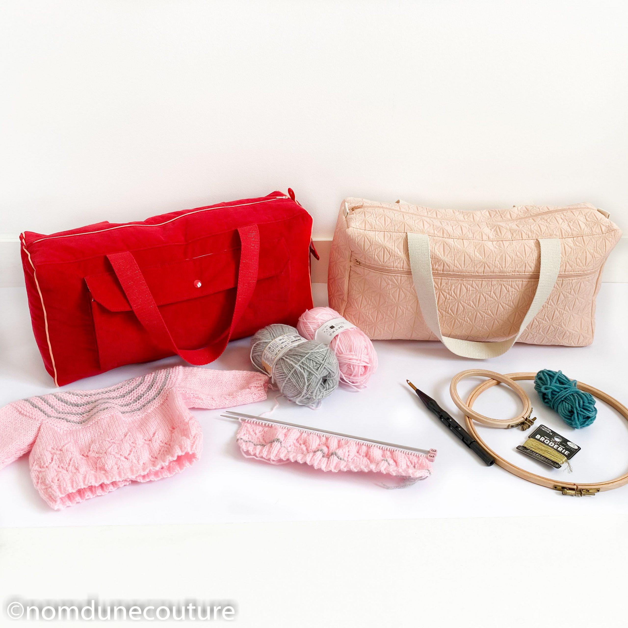 Le sac à tricot Simone (sac de voyage pour projets diy)