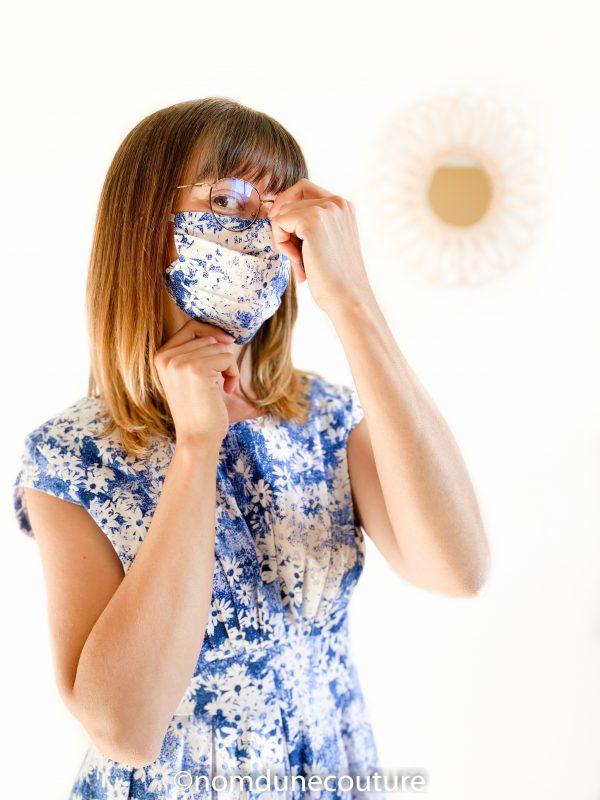 coudre un masque 2 plis afnor