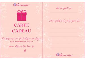 carte cadeau nom d'une couture