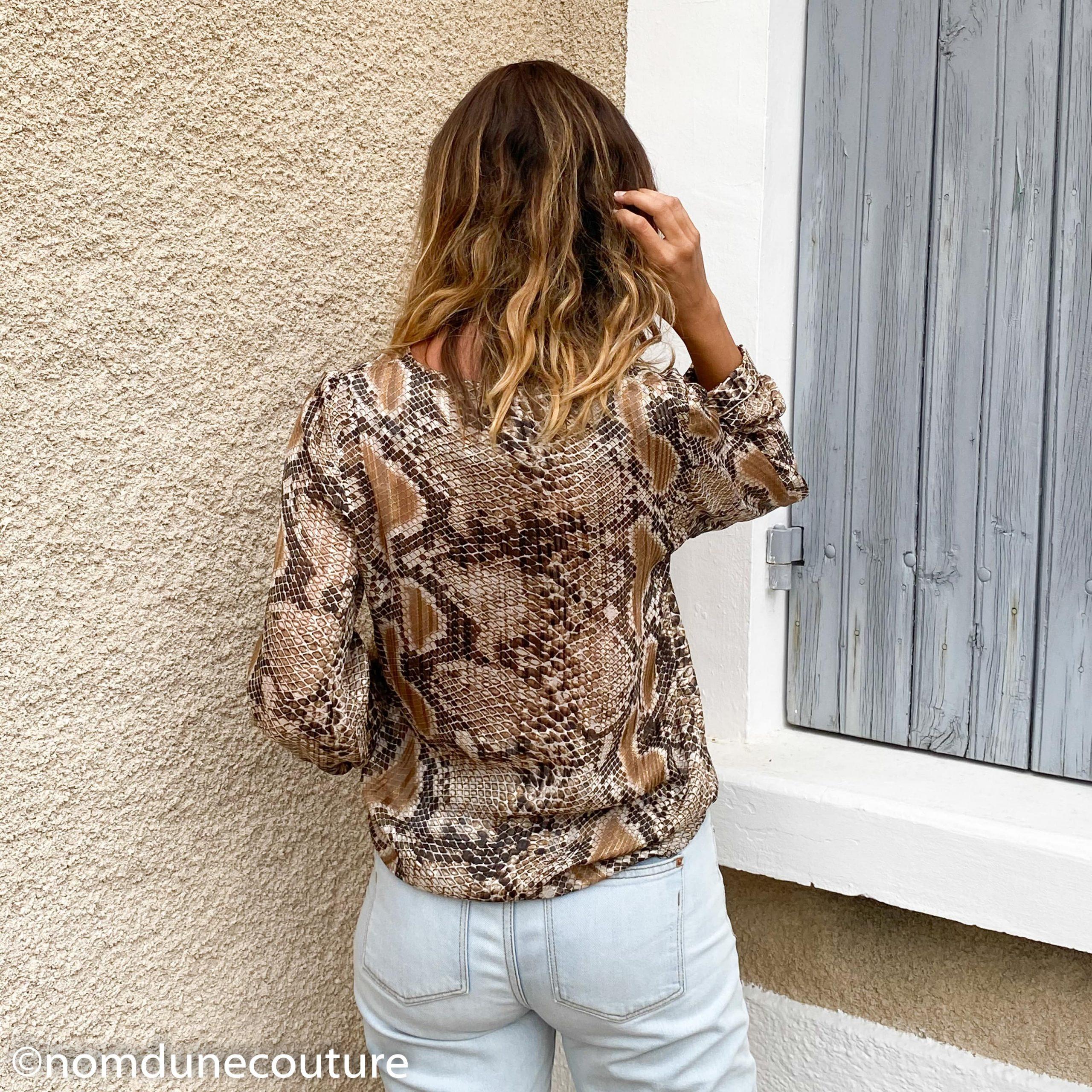 dos de la blouse mouna sew
