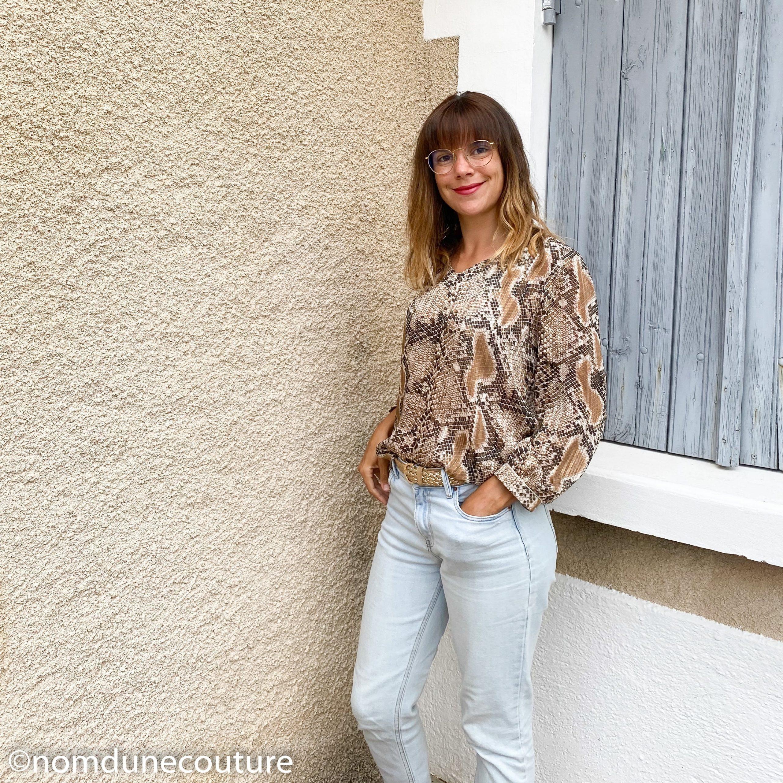 comment porter la blouse MS 10.19 mouna sew