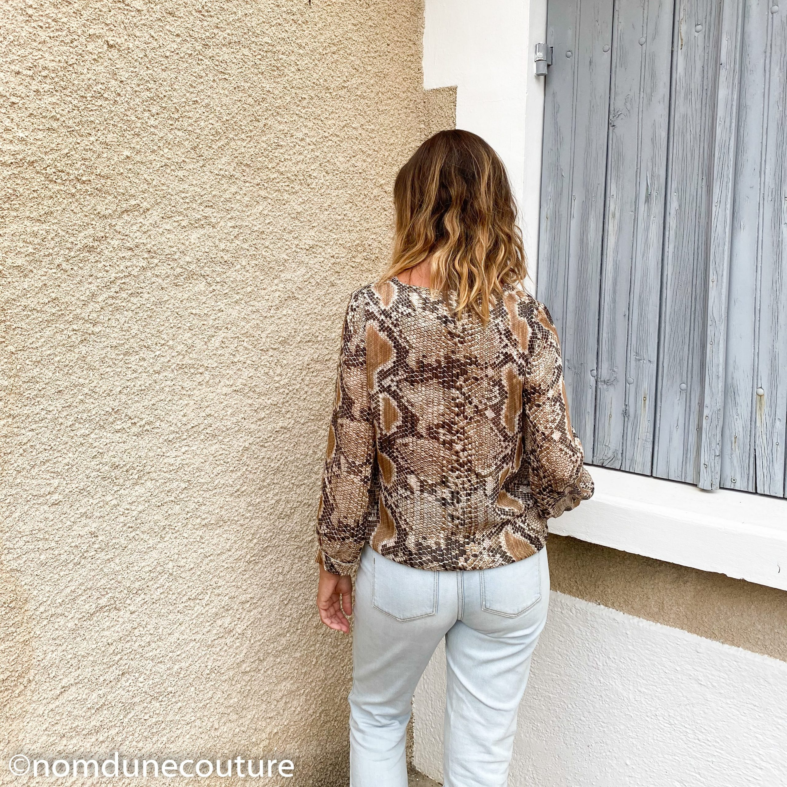 dos le blouse MS 10.19 Mouna sew