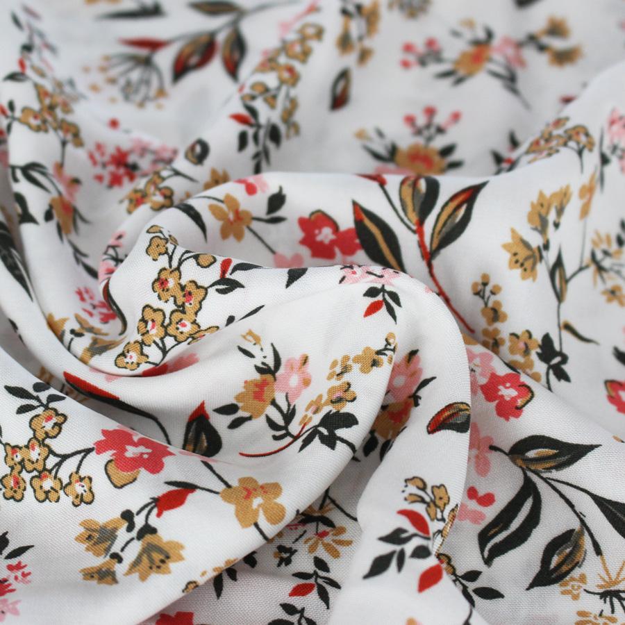tissu viscose fleur de printemps mouna sew