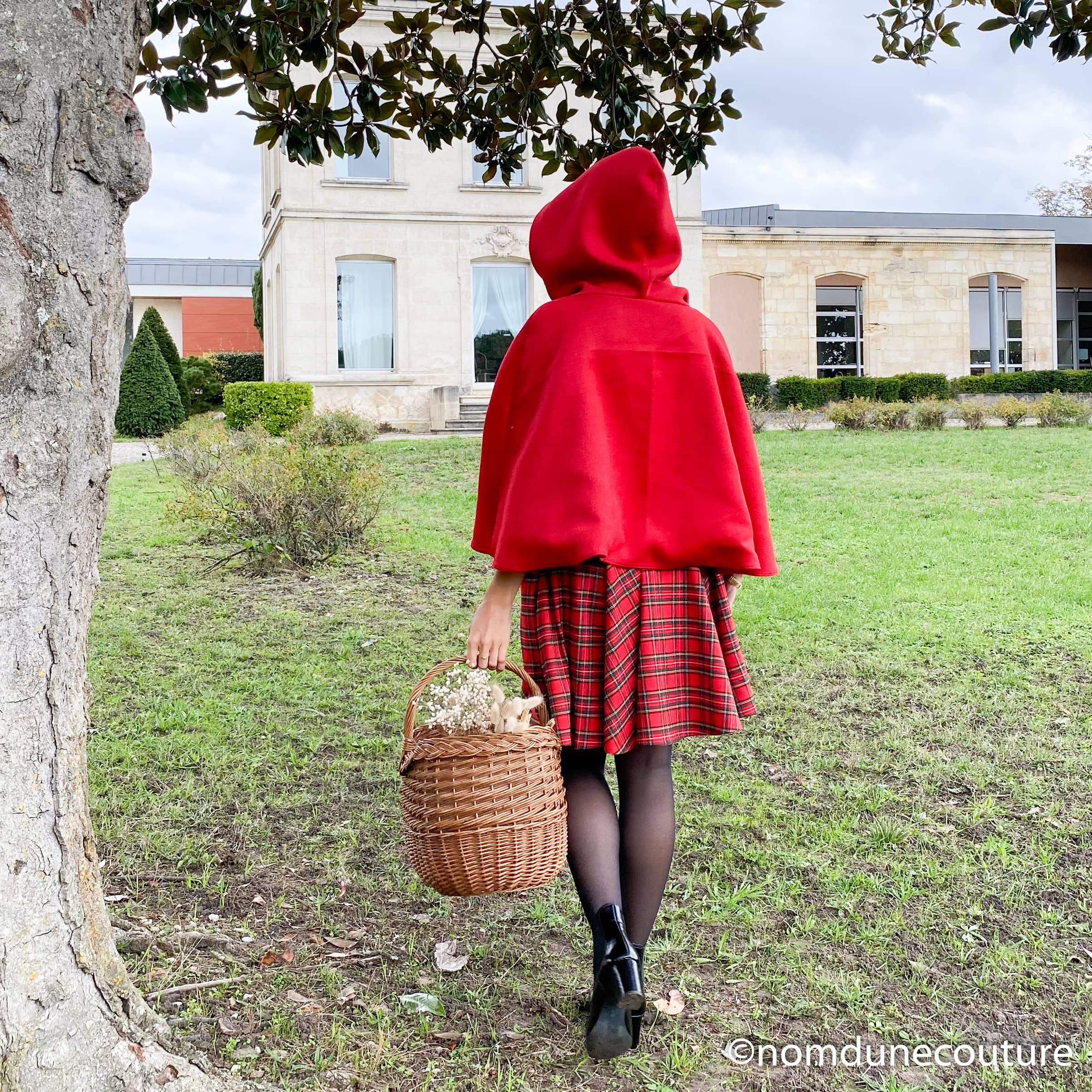 coudre une cape rouge femme makerist