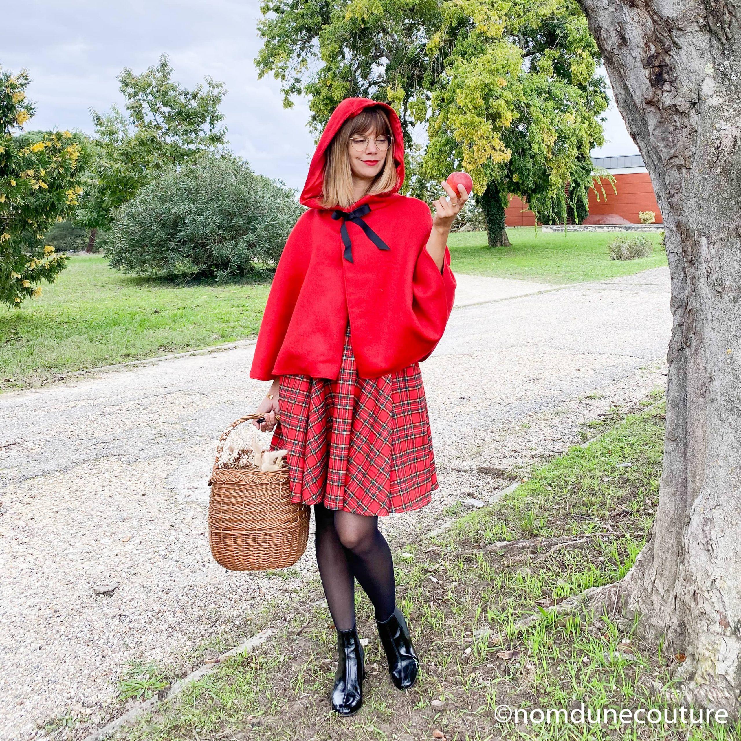 Coudre un déguisement réutilisable au quotidien : le petit chaperon rouge