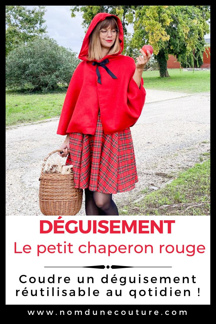 coudre un déguisement petit chaperon rouge femme réutilisable au quotidien