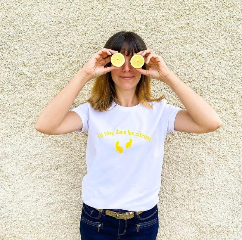 top jeanne ready to sew et flex citron cricut