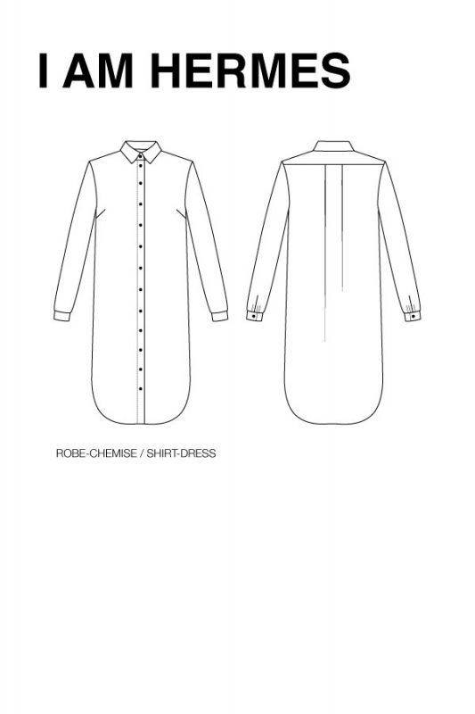 chemise robe i am hermes