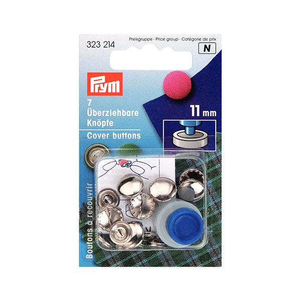 boutons à recouvrir 11 mm