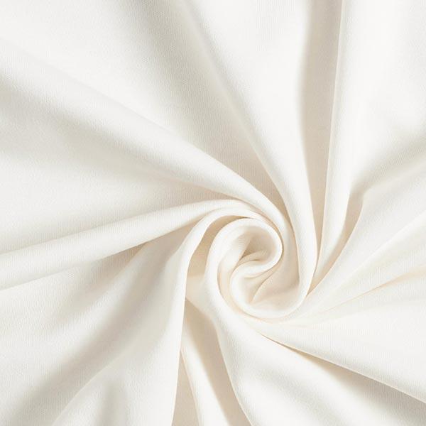 jersey interlock blanc cassé coton