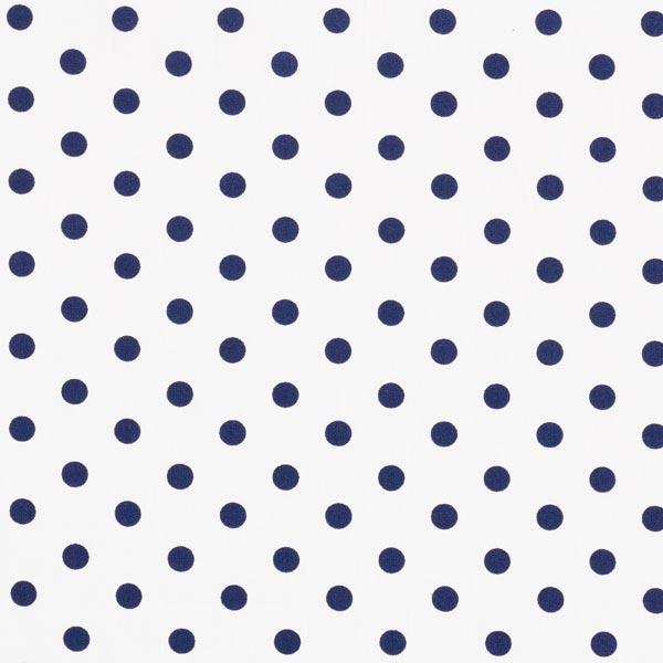 popeline à pois blanche et bleu marine