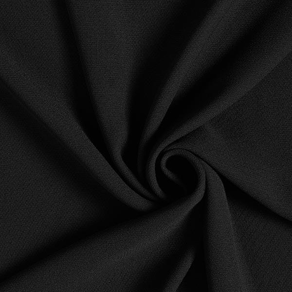 tissu crêpe uni noir