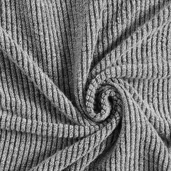 tissu maille aspect cotelé chiné gris