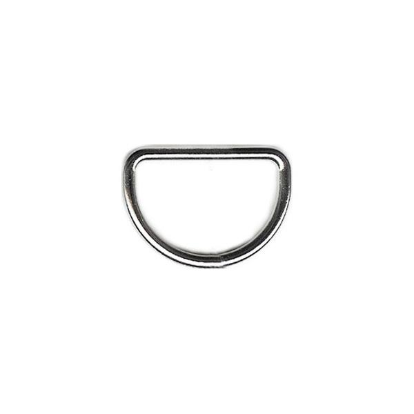 anneau demi-lune 20 mm argent