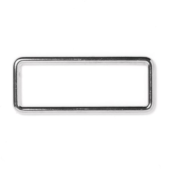 anneau rectangle argent 20mm