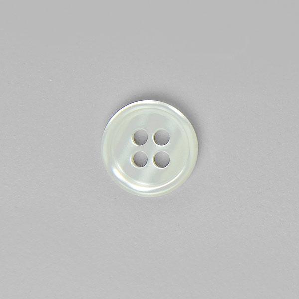 bouton blanc 11 mm 4 trous