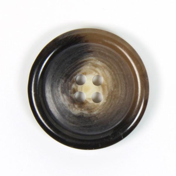 bouton écaille marron en plastique