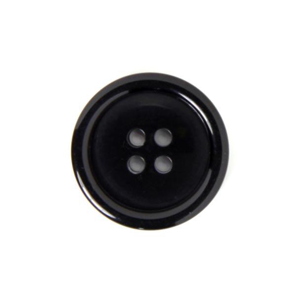bouton noir en plastique