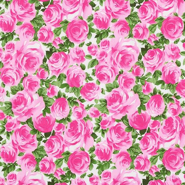 popeline de coton splendeur des roses