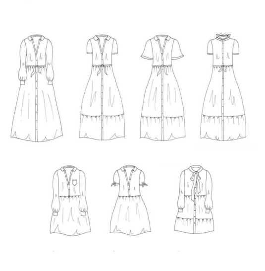 schémas techniques de la  robe nais ma petite fabrique