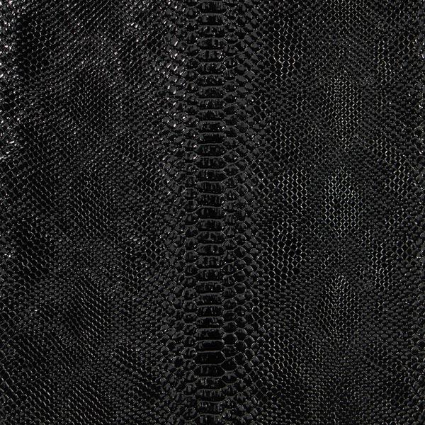 simili cuir serpent python dragon noir