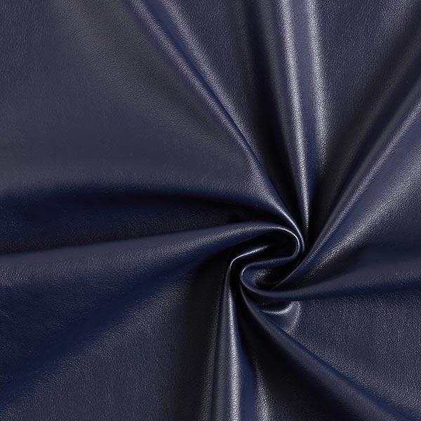 simili cuir lisse bleu marine