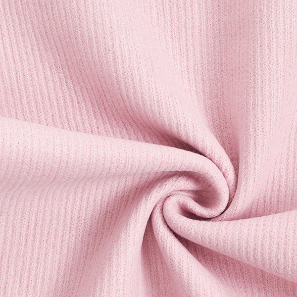 tissu maille aspect cotelé rose