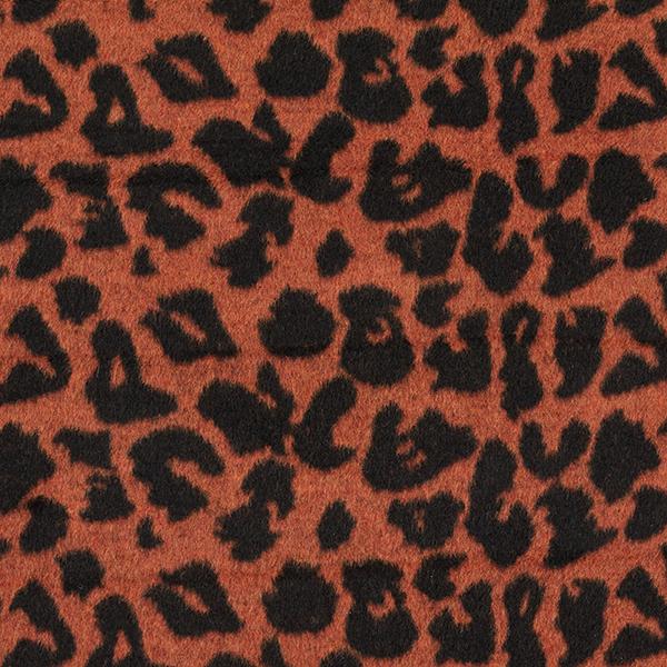 tissu lainage pour manteau motif léopard