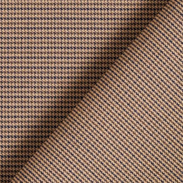 tissu pantalon stretch pied de poule marron