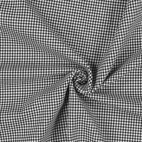 tissu stretch pied de poule noir et blanc
