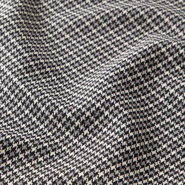 tissu costume pied de poule gris et noir