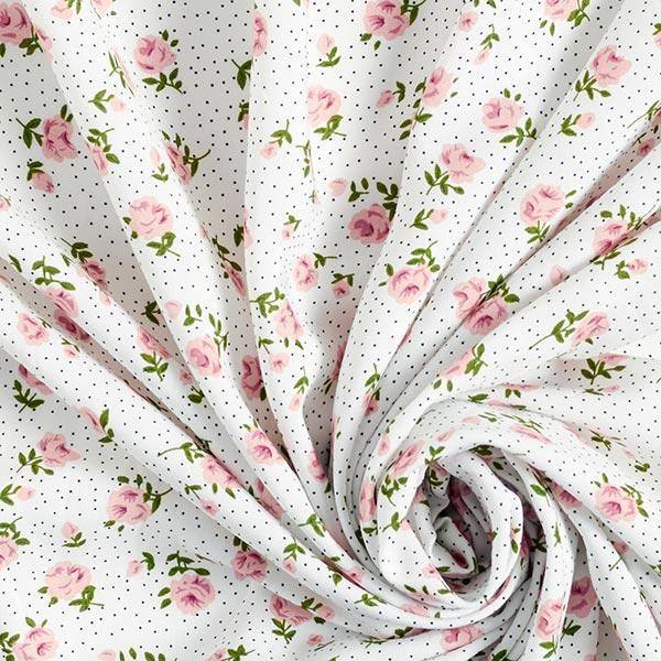 viscose à petits points et fleurs