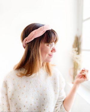 patron de couture et tutoriel headband tressé