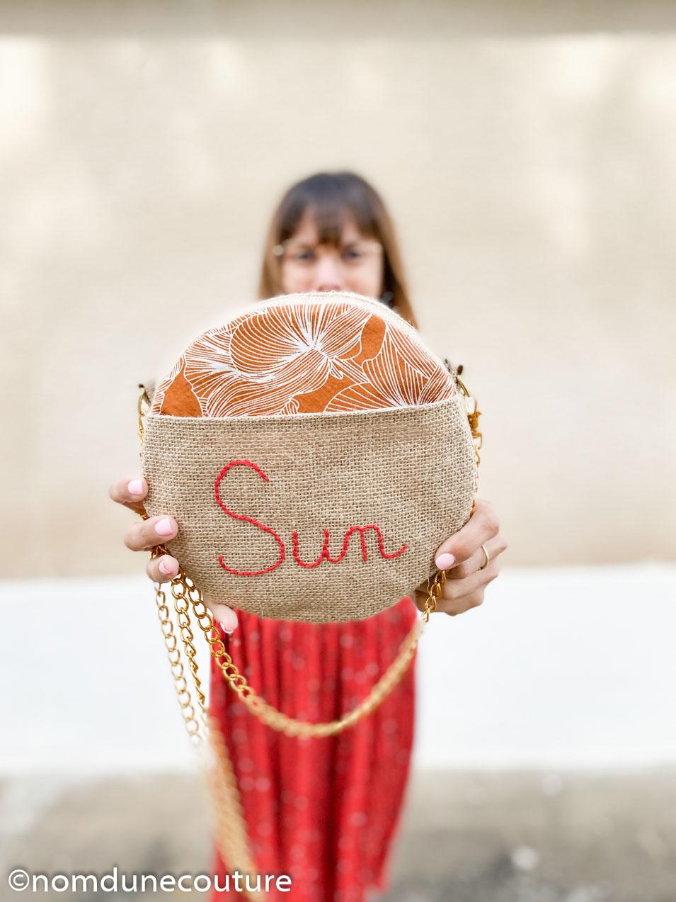 le sac rond sun nom d'une couture