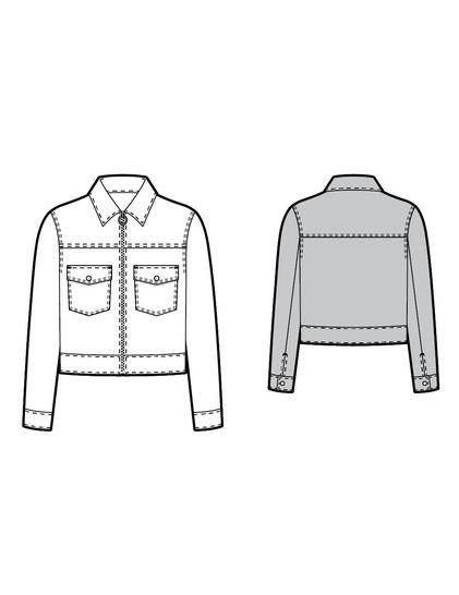 Patron de couture veste Cobalt Studio Calicot